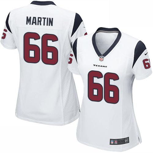 Game Nike Women's Nick Martin White Road Jersey - #66 NFL Houston Texans